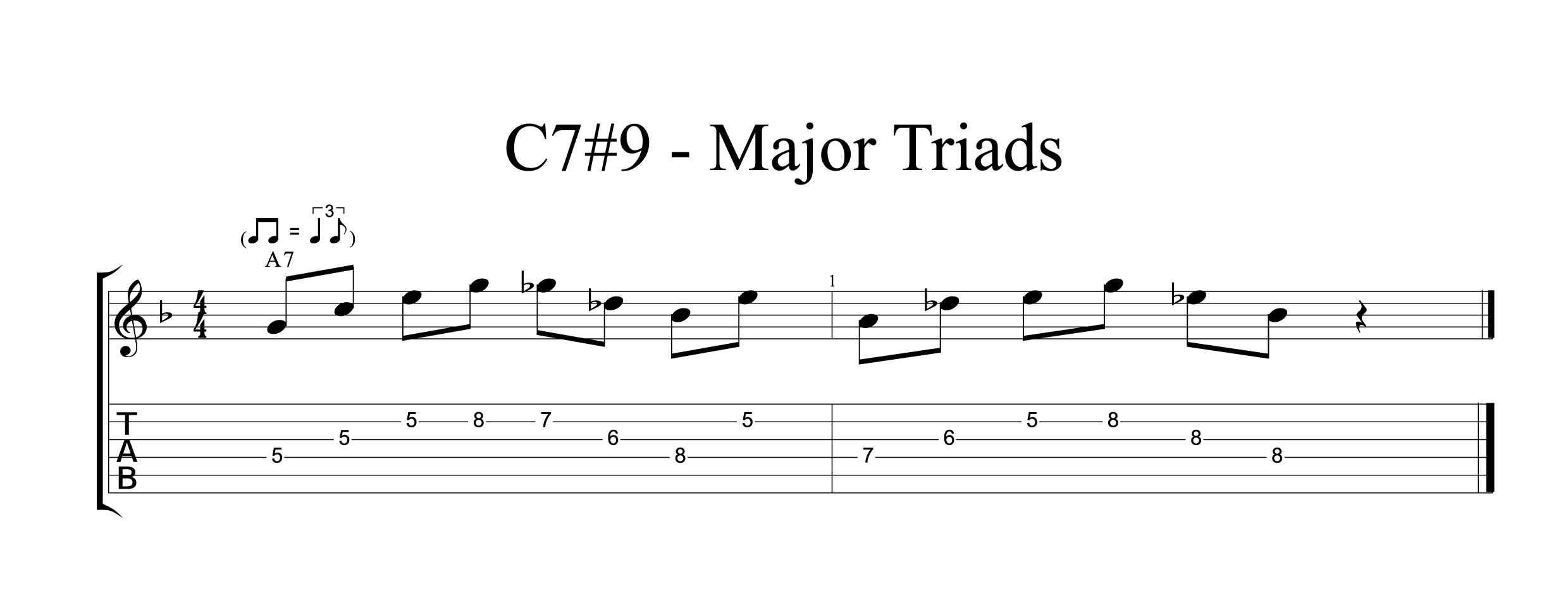 C7#9 - Major Triads