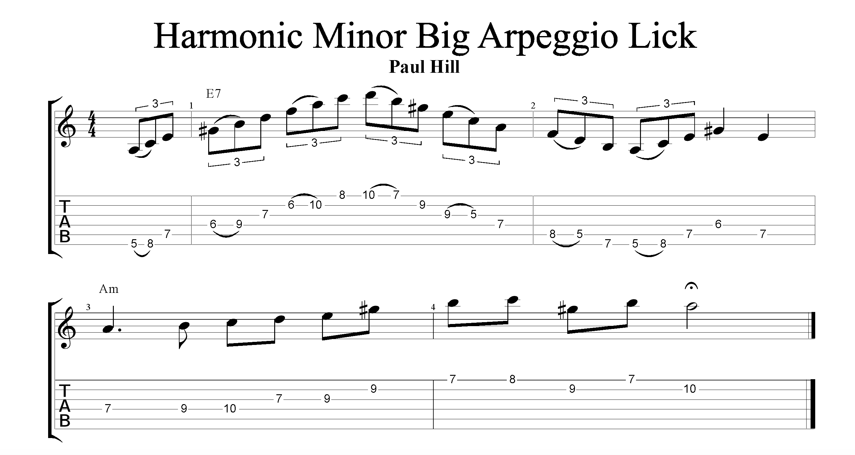 Harmonic Minor Big Arpeggio Lick
