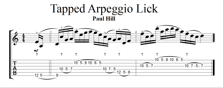 Tapped Arpeggio Lick