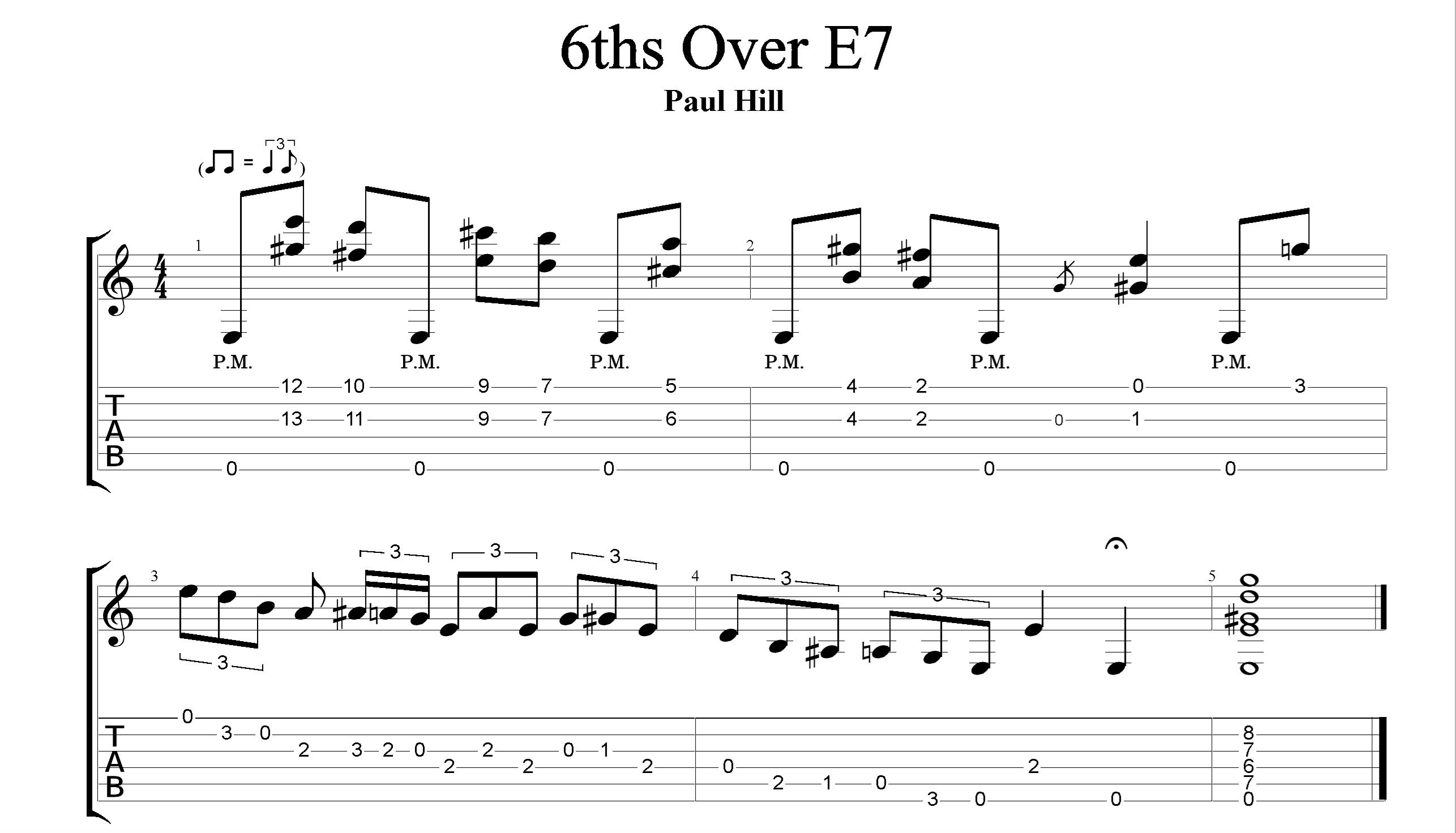 6ths Over E7