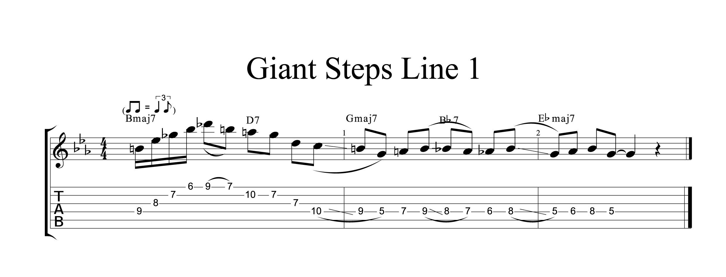 Giant Steps Line 1
