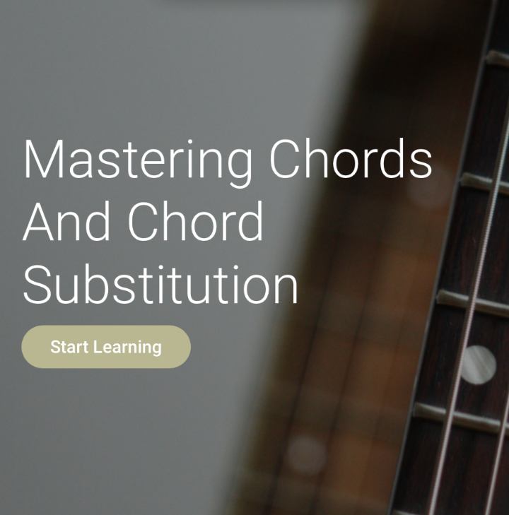 Mastering chords and chord substitution
